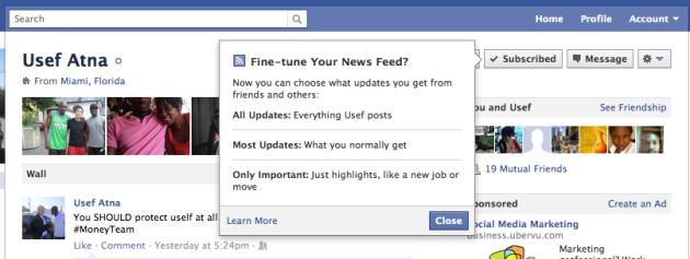 flux sur facebook