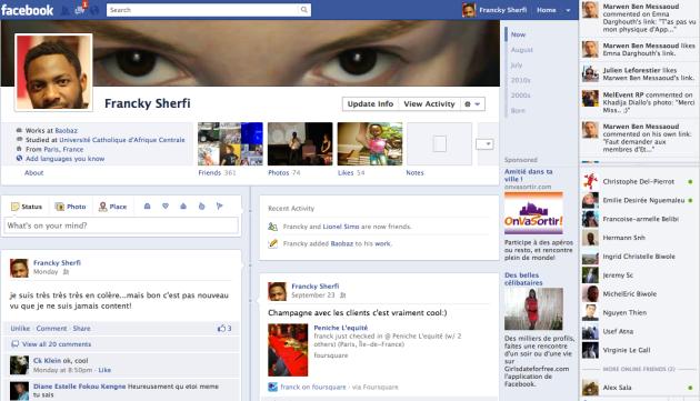 profil facebook franck nlemba